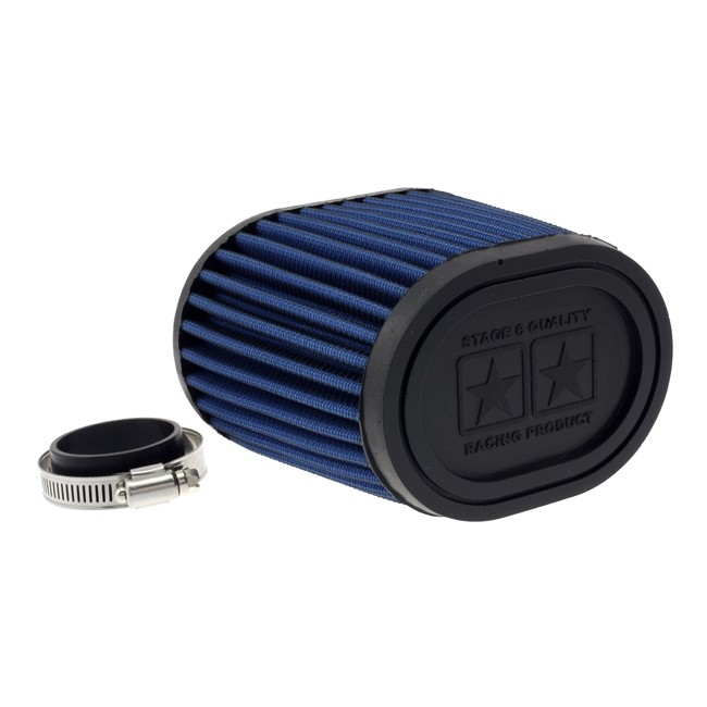 Racingluftfilter Stage6 Drag-Race, Airbox blau, 44mm + 49mm Anschluss
