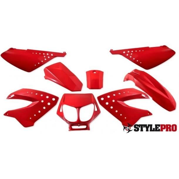 Verkleidungsset für Derbi Senda, SX50 RCR SMT, rot