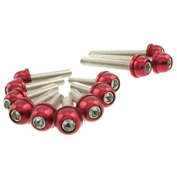 Motordeckel Schraubenset STR8 für Minarelli, rot