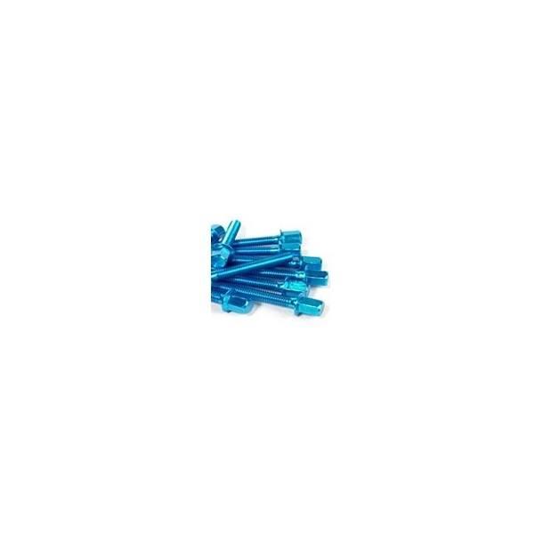 Motordeckel Schraubenset STR8 New-Style für Piaggio, blau