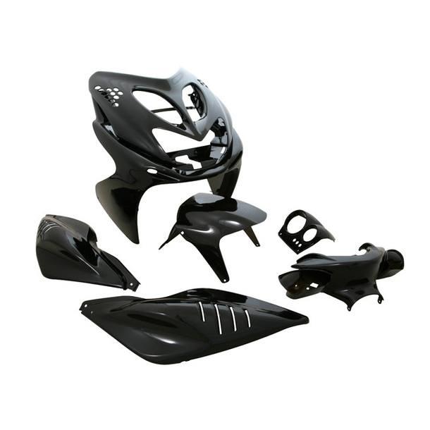 Verkleidungskit STR8 MINI, 7 Teile, Aerox / Nitro, schwarz metallic