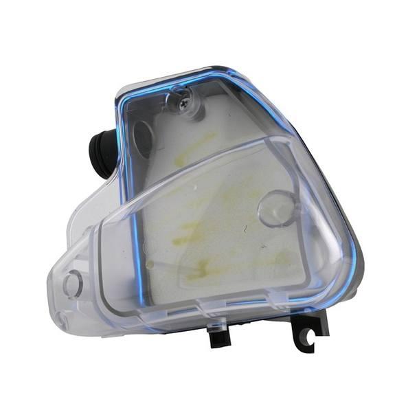 Luftfilterkasten STR8, mit blauem neonwire, Peuegot stehend, roter Filter, transparentes Cover