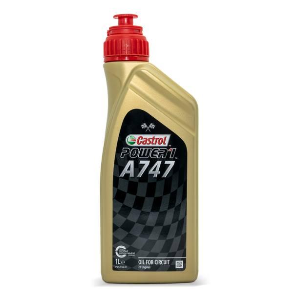 Zweitaktöl Castrol Racing A747, mit Rizinusölanteil, nicht mischbar mit anderen Ölen, nur für Rennsport
