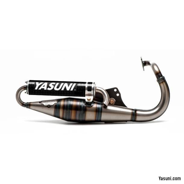 Auspuffanlage Yasuni Scooter Z Schwarze Edition für Peugeot stehend, carbon Endschalldämpfer (schwarz), mit ABE / E-Gutachten