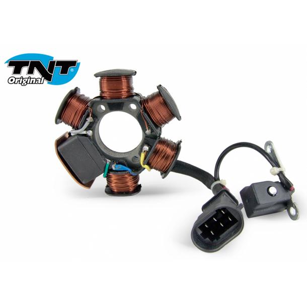 inkl Z/ündung Lichtmaschine TNT Grundplatte f/ür Peugeot Liegend Stator