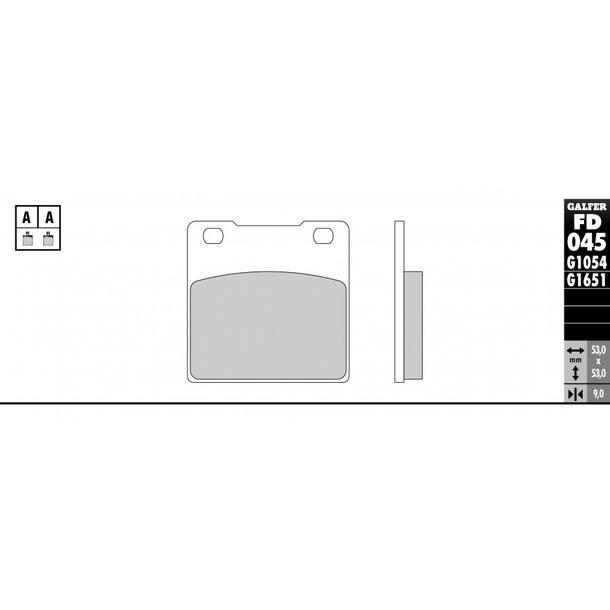 Galfer Bremsbeläge Semi-Metal FD045G1054