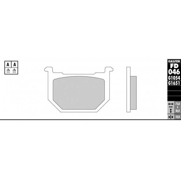 Galfer Bremsbeläge Semi-Metal FD046G1054
