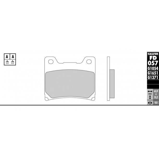 Galfer Bremsbeläge Semi-Metal FD057G1054