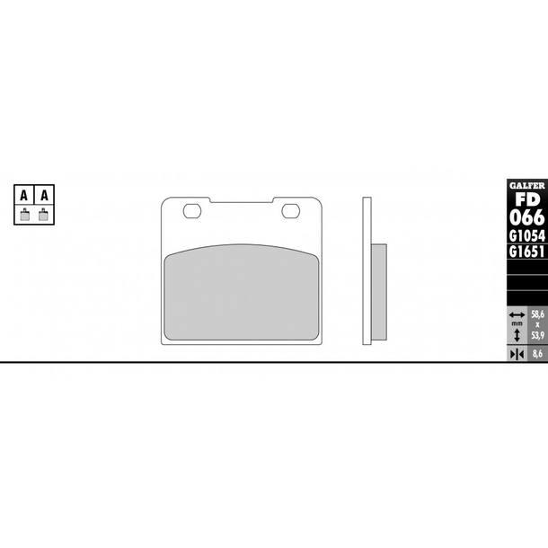 Galfer Bremsbeläge Semi-Metal FD066G1054