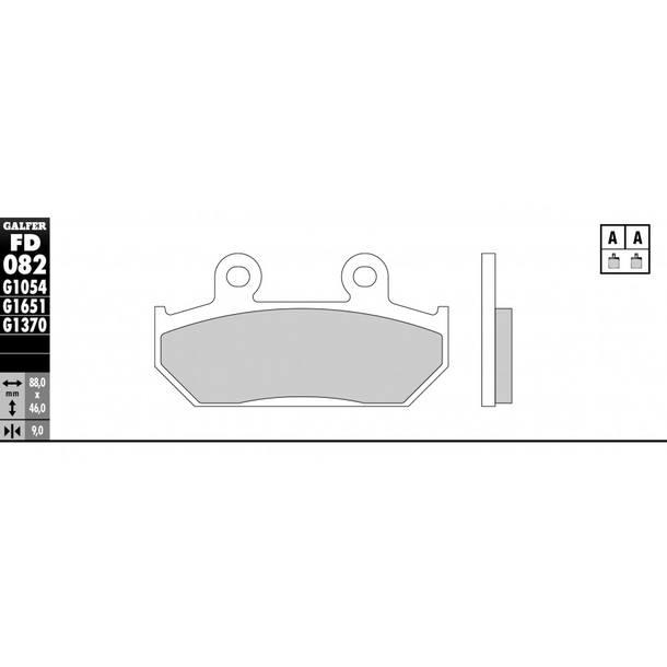 Galfer Bremsbeläge Semi-Metal FD082G1054