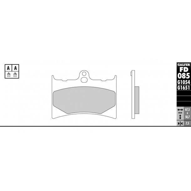 Galfer Bremsbeläge Semi-Metal FD085G1054