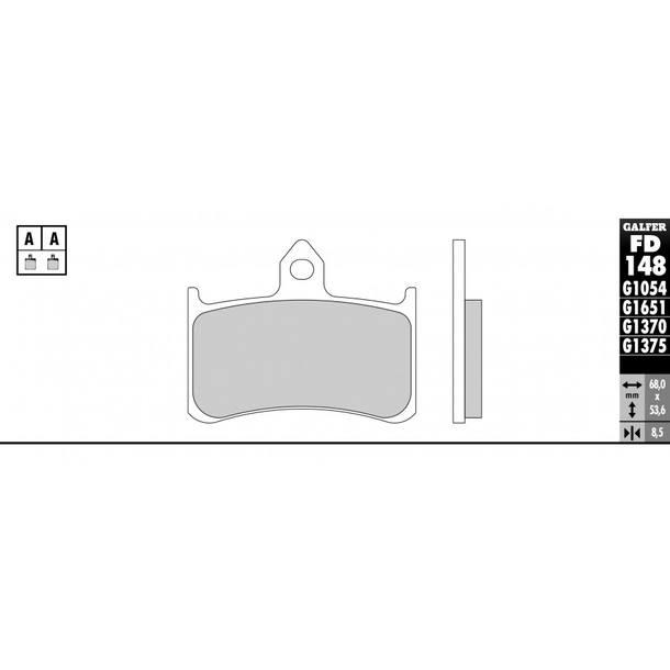 Galfer Bremsbeläge Semi-Metal FD148G1054