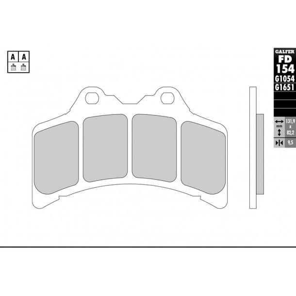 Galfer Bremsbeläge Semi-Metal FD154G1054
