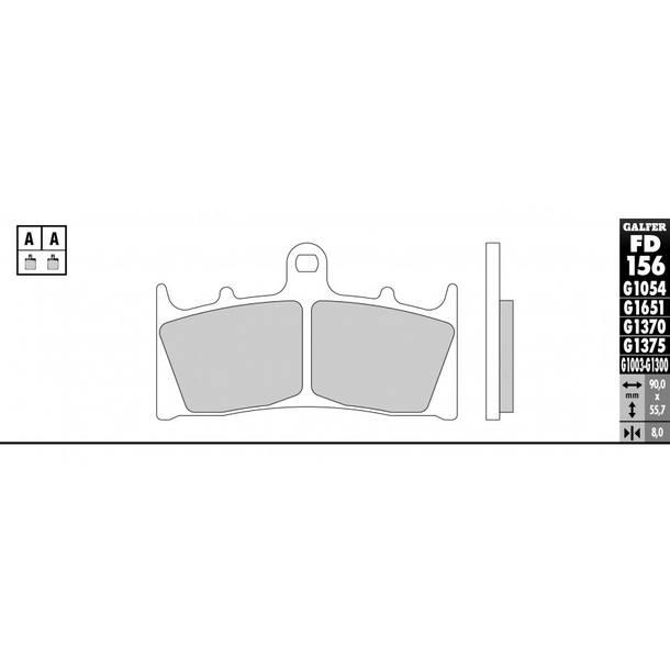 Galfer Bremsbeläge Semi-Metal FD156G1054