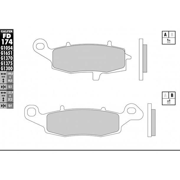 Galfer Bremsbeläge Semi-Metal FD174G1054