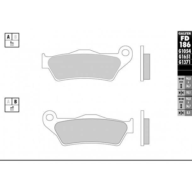 Galfer Bremsbeläge Semi-Metal FD186G1054