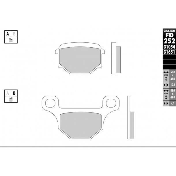 Galfer Bremsbeläge Semi-Metal FD252G1054