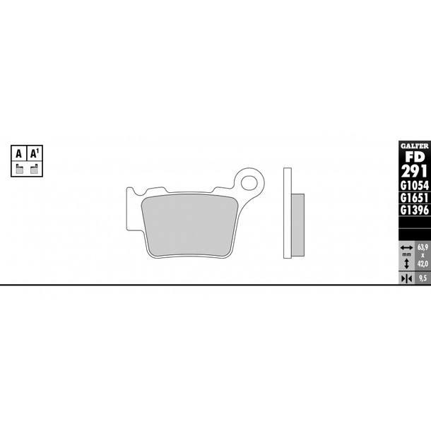 Galfer Bremsbeläge Semi-Metal FD291G1054