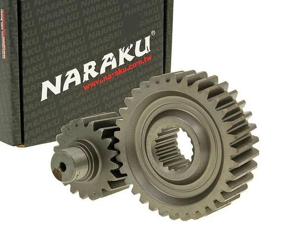 Getriebe sekundär Naraku Racing 19/34 +42% für GY6 125/150ccm 152/157QMI