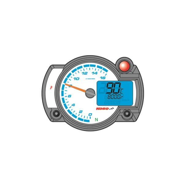 Drehzahlmesser Koso Digital RX2NR , Temperatur mit Warnfunktion, 16.000 UPM