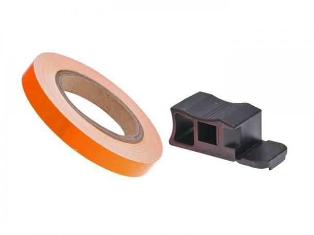 Felgenrand Aufkleber 7mm - neonorange - 600cm