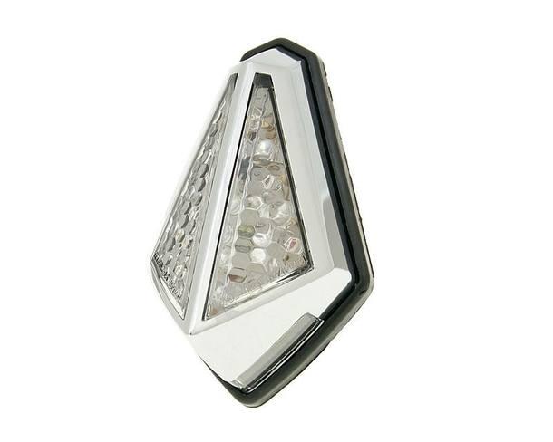 Rücklicht LED transparent Mini Custom Chrom universal