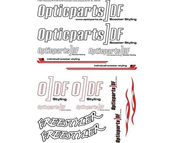 Aufklebersatz ODF DIN-A3 weiß - universal