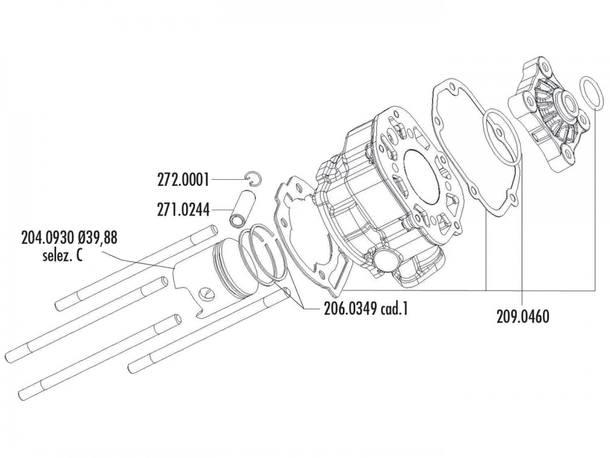 Zylinder Dichtungssatz Polini 50ccm für Derbi D50B0