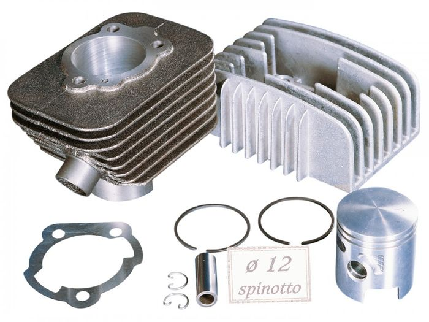 Zylinderkit Polini Grauguss Sport 63ccm 12mm Kolbenbolzen für Piaggio, Vespa Bravo, Boss, Grillo, SI