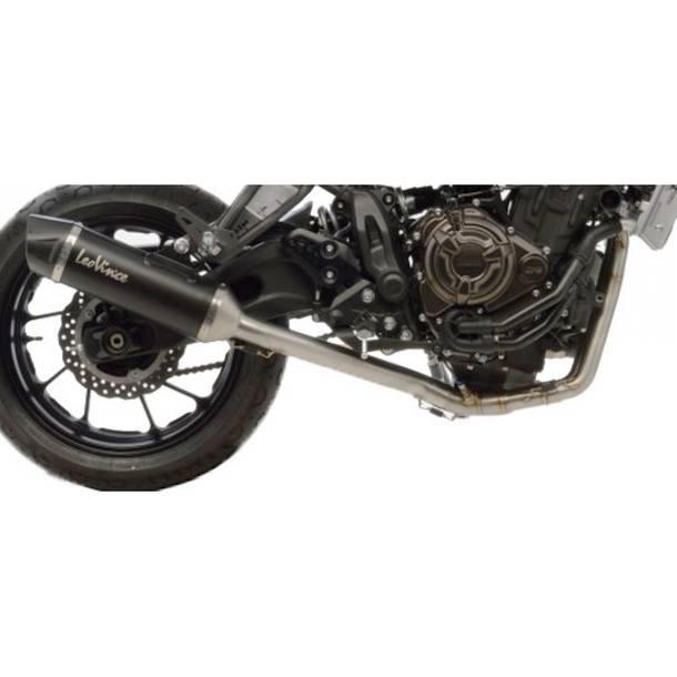 Auspuffanlage LeoVince Edelstahl Komplettanlage 2x1 SBK Nero für Yamaha XSR700
