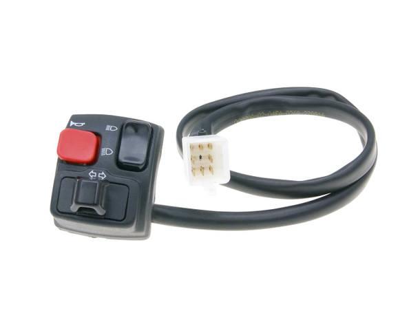 Schaltereinheit Lenker links Blinker, Fernlicht, Abblendlicht, Hupe für Rieju SMX, MRX, RR, RS2, Spike