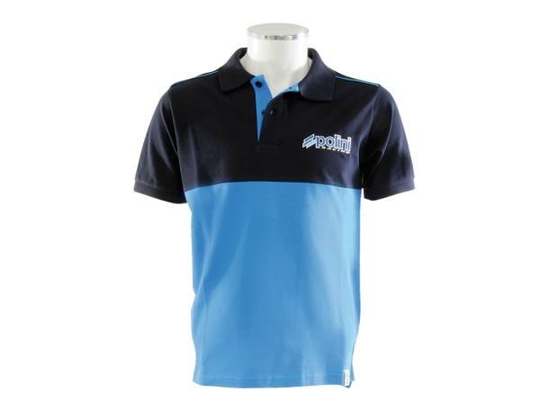 Polo-Shirt Polini EVO Herren navy-hellblau Größe S