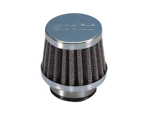 Luftfilter Polini Metal Air Filter klein 35mm gerade Chrom