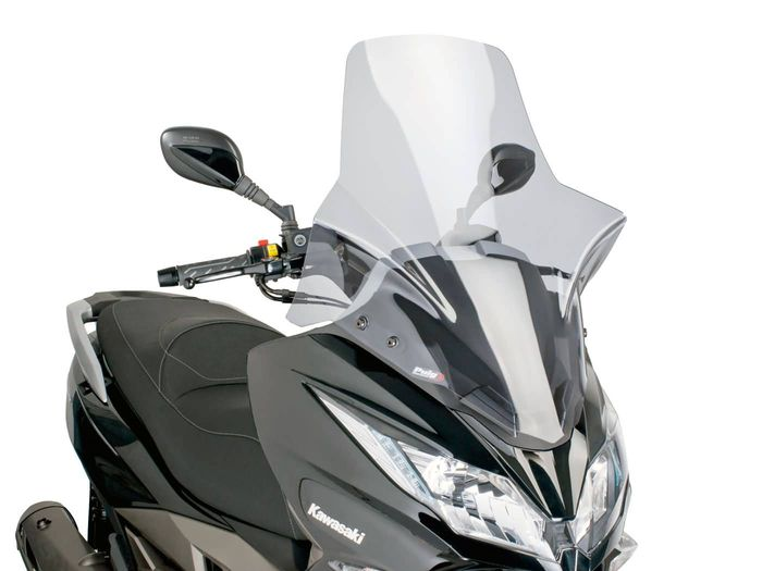 Windschild Puig V-Tech Touring smoke für Kawasaki J300