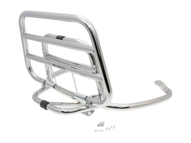 Gepäckträger / Top Case Träger OEM klappbar Chrom für Vespa Primavera / Sprint