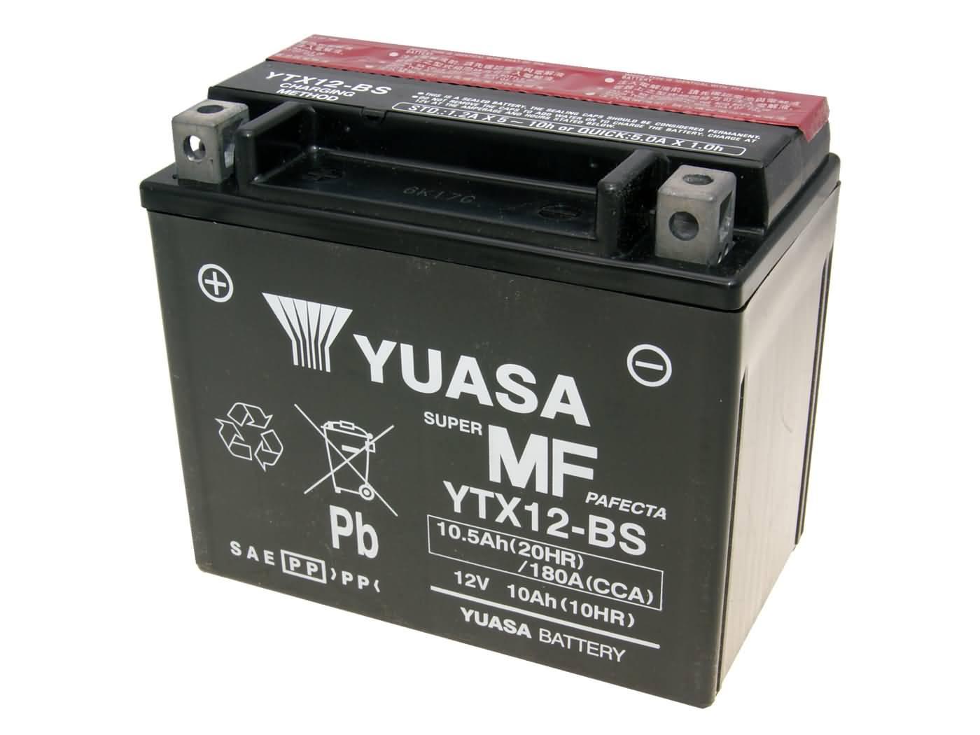 batterie yuasa ytx12 bs dry mf wartungsfrei roller. Black Bedroom Furniture Sets. Home Design Ideas