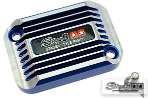 Bremszylinder Abdeckung Stage6 CNC Type cooling style Aprilia SR Blau eloxiert