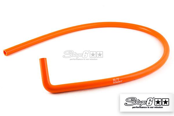 Kühlwasserschlauch Stage6 HQ, 1500mm, 1 x 90Grad, orange