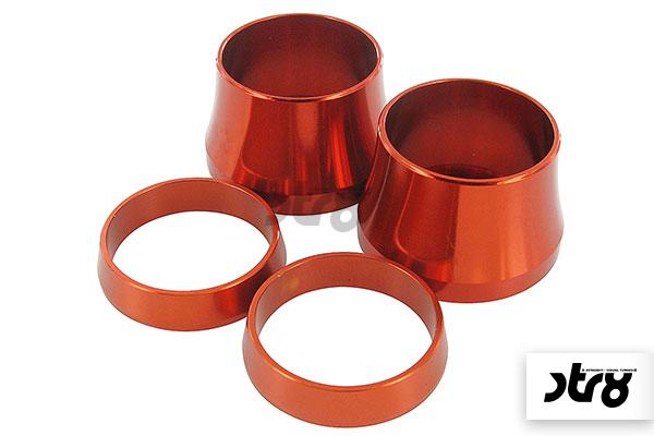 CNC-Ring-Set für Lenkergriffe STR8 CNC orange