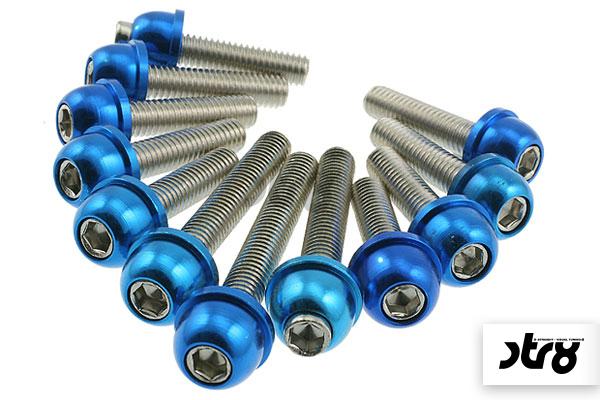 Motordeckel / Variodeckel Schraubenset STR8 Minarelli blau